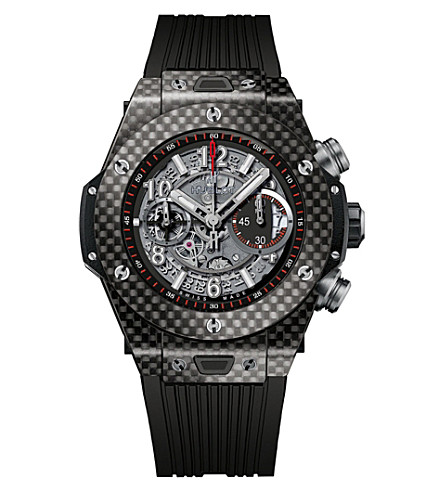 HUBLOT Big bang Unico carbon and rubber watch