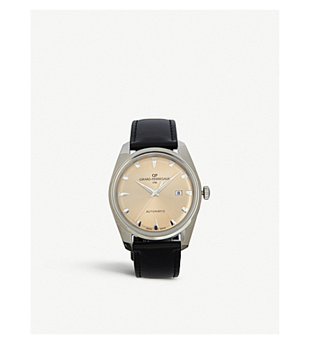 GIRARD-PERREGAUX 41957-11-131-BB6A Heritage stainless steel and leather watch
