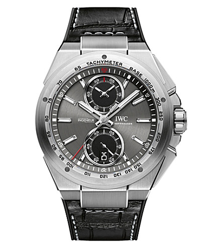 IWC SCHAFFHAUSEN IW378507 ingenieur leather watch