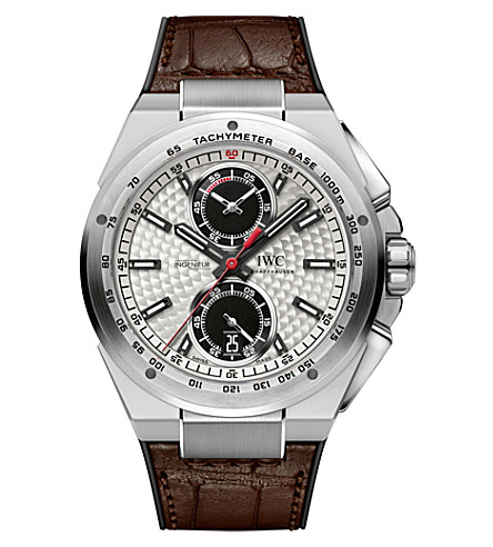 IWC SCHAFFHAUSEN IW378505 ingenieur leather watch