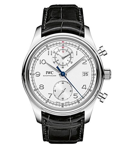 IWC IW390403 portugieser leather watch