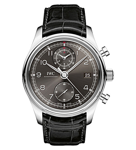 IWC SCHAFFHAUSEN IW390404 Portugieser alligator-leather watch