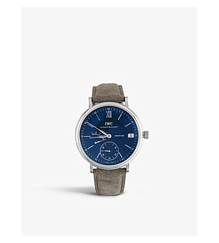 IWC IW510106 Portofino alligator-leather watch
