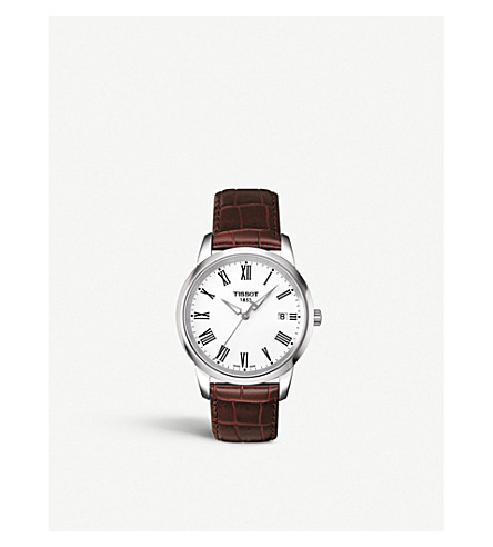 TISSOT T033.410.16.013.01 Classic Dream leather watch