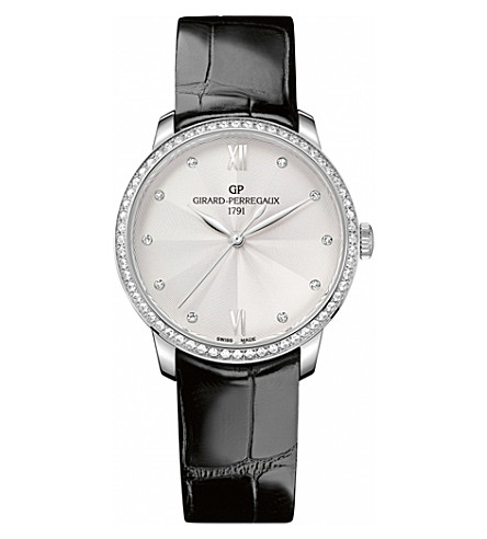 GIRARD-PERREGAUX 49523D11A171-11A 1966 white-gold, steel and diamond watch