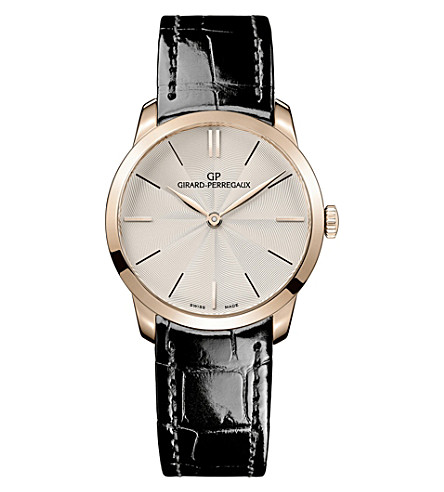 GIRARD-PERREGAUX 49528.52.131.CB6A 1966 18ct rose-gold and alligator-leather watch
