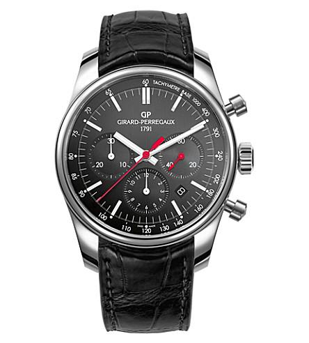GIRARD-PERREGAUX 49590-11-611-BB6A Competizione 瓦伦西亚不锈钢和鳄鱼皮腕表