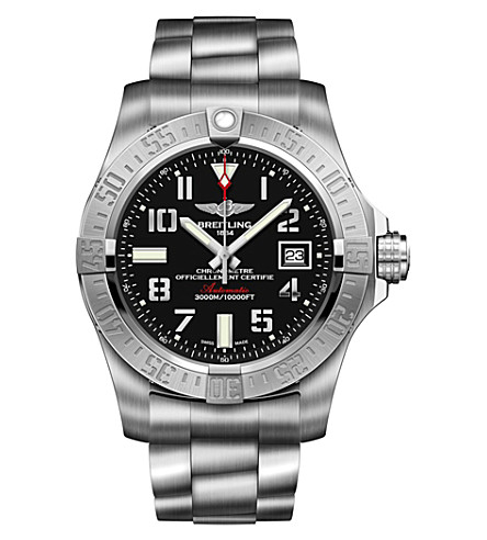 BREITLING A3239011/BC35 Avenger II GMT stainless steel watch