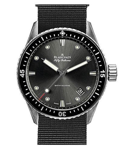 BLANCPAIN 5000-1110-NABA Bathyscaphe titanium automatic watch