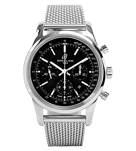 BREITLING Ab015212/ba99 154a transocean chronograph stainless steel watch