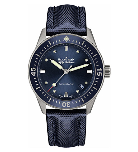 BLANCPAIN 5100114052A Fifty Fathoms stainless steel watch