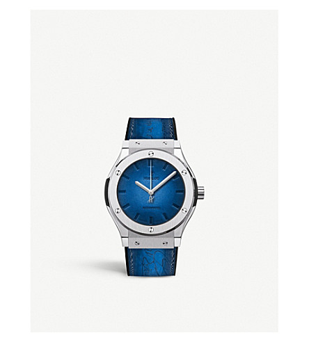HUBLOT 511.NX.050B.VR.BER16 Classic Fusion Berluti Blue ceramic watch