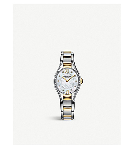 RAYMOND WEIL 5124-SPS00985 Noemia stainless steel, yellow-gold, diamond and mother-of-pearl watch (Mother-of-pearl