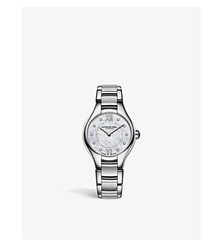 RAYMOND WEIL 5124-ST00985 Noemia diamond, silver and mother-of-pearl watch (Mother-of-pearl