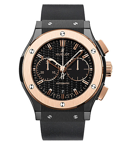 HUBLOT 541.co.1780.rx classic fusion ceramic king gold chronograph watch