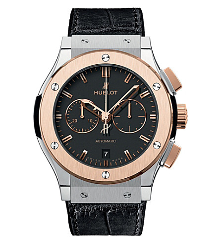 HUBLOT 541.no.1180.lr classic fusion titanium ceramic chornograph watch