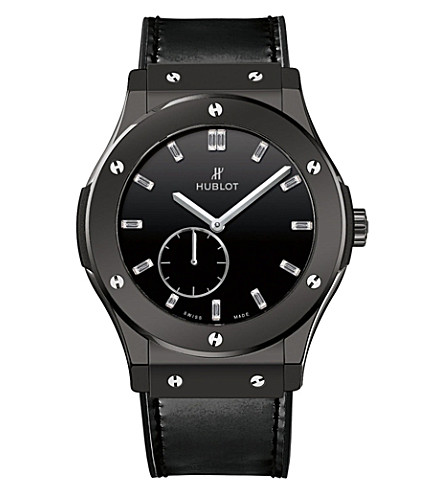 HUBLOT 515CS1270VR classic fusion titanium and leather manual watch
