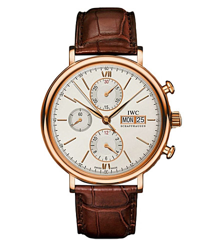 IWC SCHAFFHAUSEN IW391020 portofino leather watch