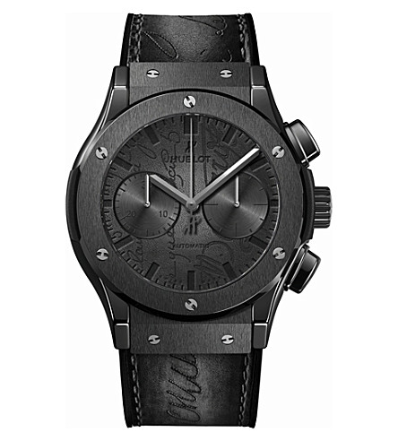 HUBLOT 521CM0500VRBER17 Classic Fusion Berluti All Black leather and ceramic watch