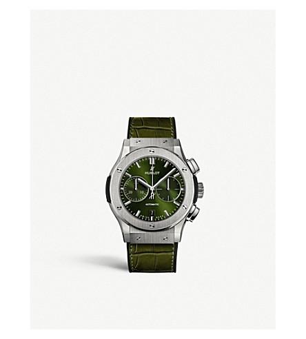 HUBLOT 521.NX.8970.LR Classic Fusion titanium and leather watch