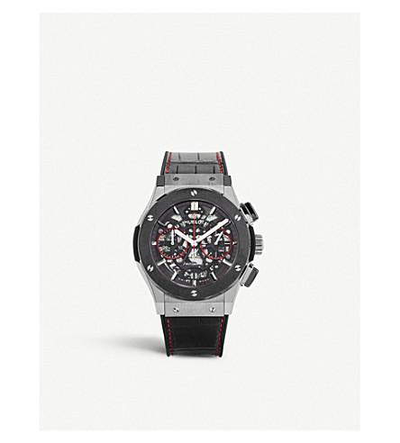 HUBLOT 525NX0137LRSIS15 钛及鳄鱼皮腕表