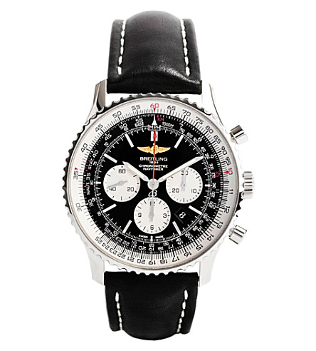 BREITLING Ab012721/bd09 441x navitimer 01 (46mm) leather watch