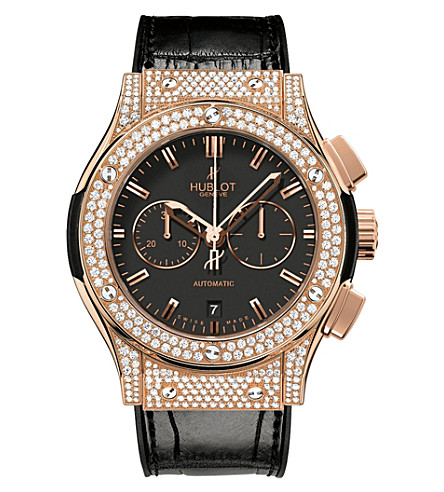 HUBLOT 541.OX.1180.LR.1704 Classic Fusion 18ct rose gold and diamond watch