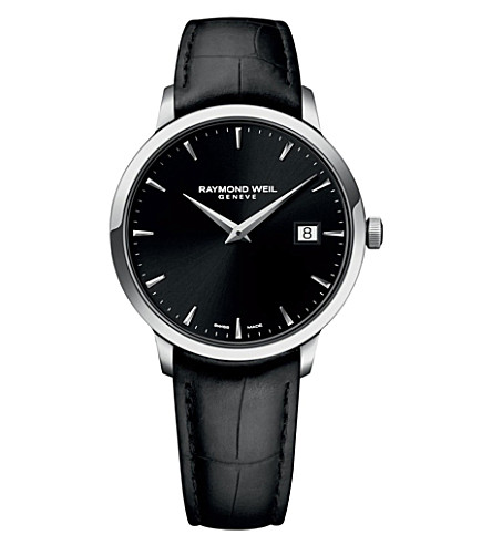 RAYMOND WEIL 5488-stc-20001 Toccata stainless steel and leather watch