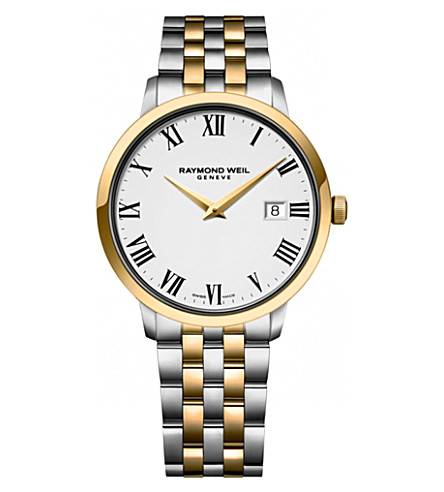 RAYMOND WEIL 5488-stp-00300 Toccata two-tone gold-plated watch