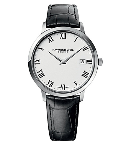 RAYMOND WEIL 5588-stc-00300 Toccata stainless steel and leather watch