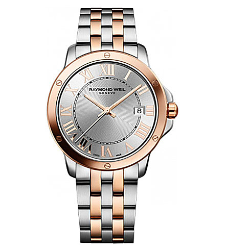 RAYMOND WEIL 5591-sb5-00658 Tango stainless steel and rose gold-plated watch