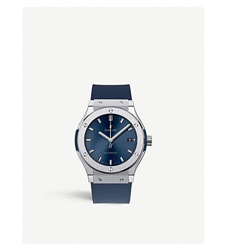 HUBLOT 511.nx.7170.lr classic fusion titanium blue watch