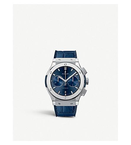 HUBLOT 521.NX.7170.LR Classic Fusion Blue Chronograph Titanium Watch