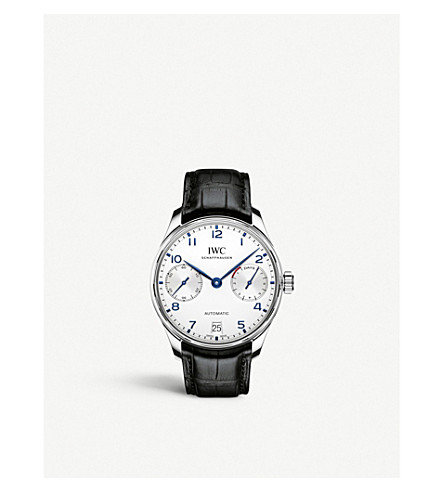 IWC SCHAFFHAUSEN IW500705 portugieser leather watch