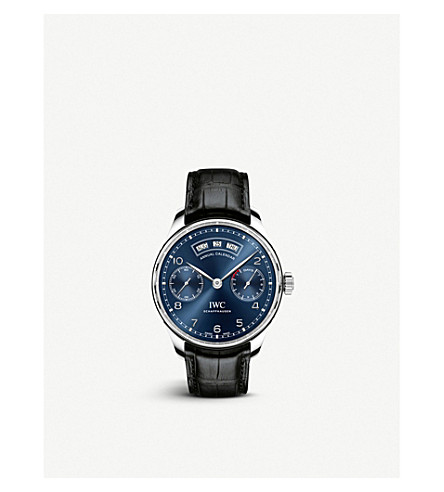 IWC SCHAFFHAUSEN IW503502 portugieser leather watch