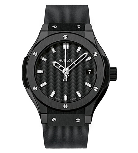 HUBLOT 581.CM.1770.RX Classic Fusion ceramic and rubber watch