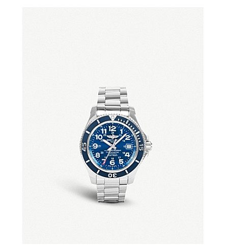 BREITLING A17392D8/C910 162A Superocean II stainless steel watch