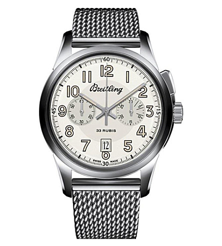 BREITLING Transocean stainless steel watch