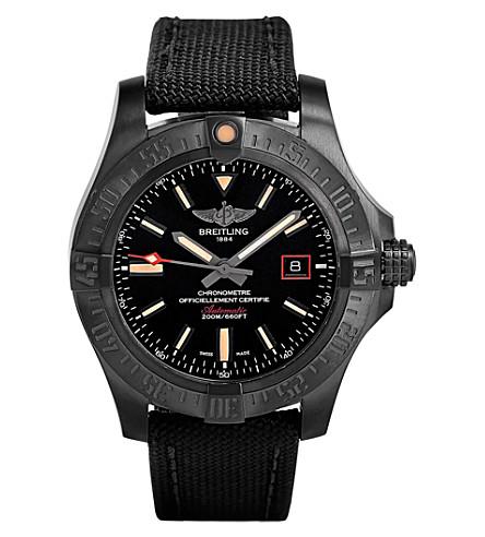 BREITLING V1731110/BD74 109W Blackbird Avenger black titanium watch