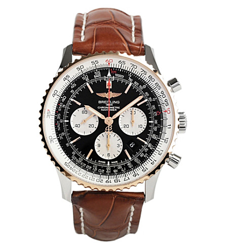 BREITLING Ub012721/be18 754p navitimer 01 (46mm) steel and gold watch