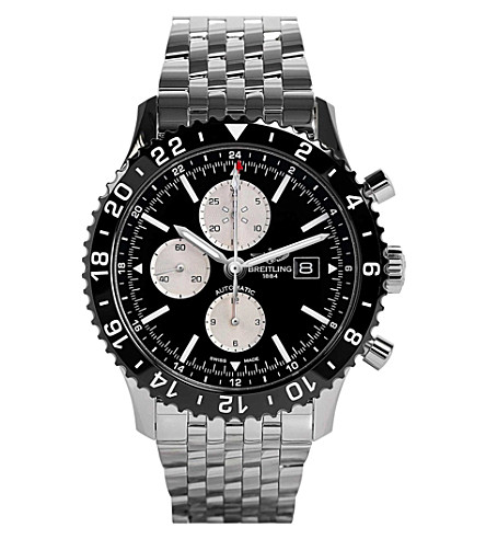 BREITLING Y2431012/be10 442a chronoliner stainless steel watch