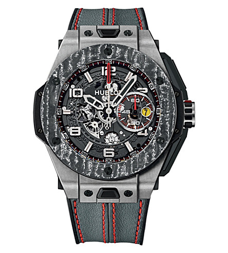 HUBLOT 401.NJ.0123.VR big bang ferrari titanium carbon watch