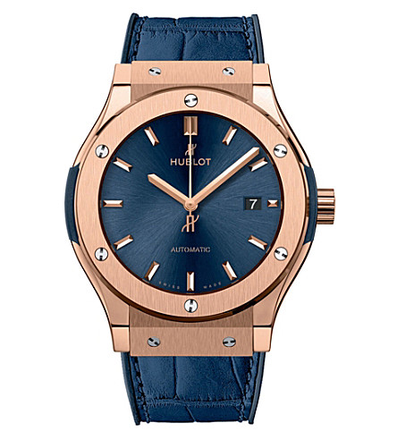 HUBLOT 542.OX.7180.LR Classic Fusion Blue King Gold Watch