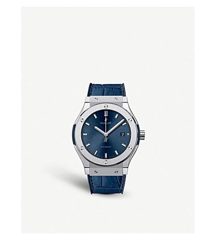 HUBLOT 542.NX.7170.LR Classic Fusion Blue Titanium Watch