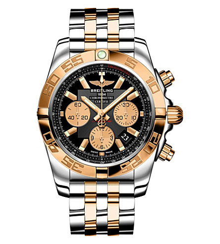 BREITLING CB011012/B968 chronomat 44 rose-gold and stainless steel chronograph watch