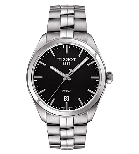 TISSOT T101.410.11.051.00 PR 100 stainless steel watch