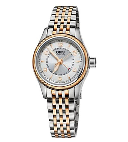 ORIS 59476804361mb Aviation rose gold-plated stainless steel watch (Sliver