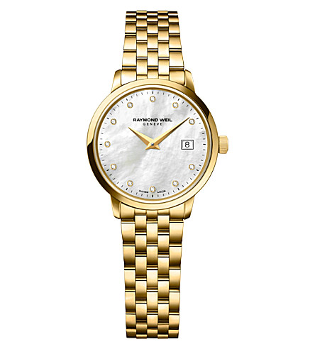 RAYMOND WEIL 5988-p-97081 Toccata calibre 2.5 diamond-studded watch