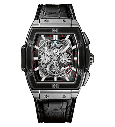HUBLOT 601.NM.0173.LR Spirit of Big Bang titanium and alligator-leather watch