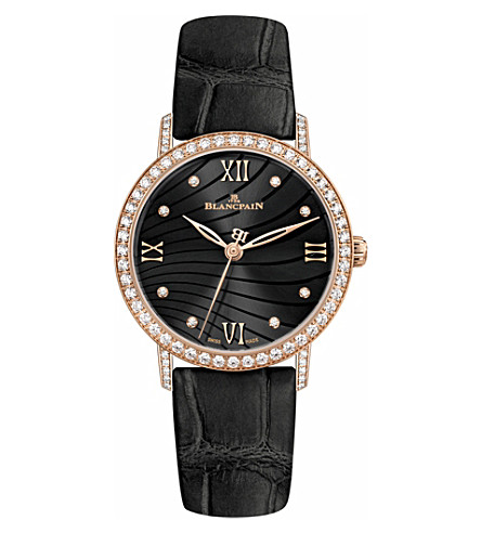 BLANCPAIN 6104293055A rose gold and diamond watch